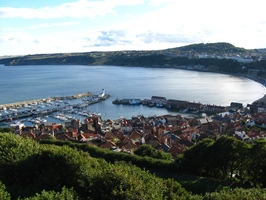 View of harbour and south beach at Scarborough