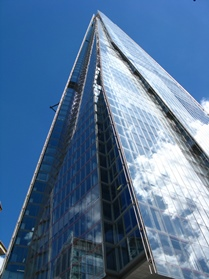 View of the Shard in sunshine.