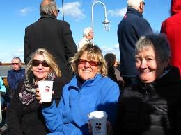 On-deck with Waverley branded tea cups