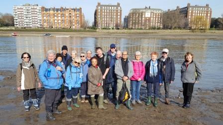On the foreshore by Putney Bridge